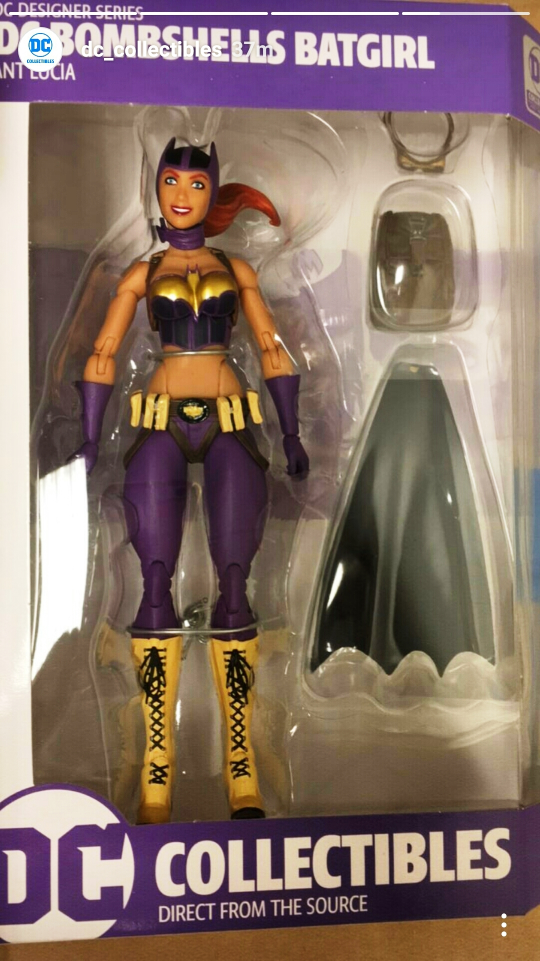 DC Bombshells ~ BATGIRL ACTION FIGURE ~ DC Collectibles Ant Lucia